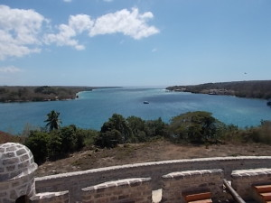 View from Battlements overlooking entrance to harbou