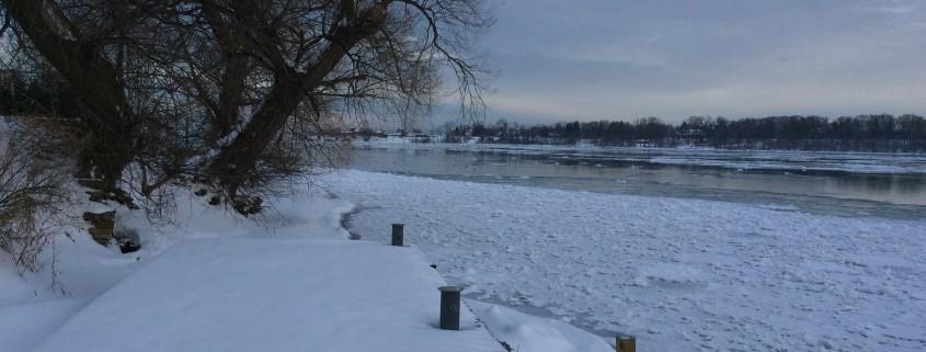 Navy Hall site in Winter